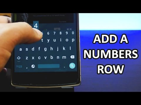 How To Get A Dedicated Numbers Row On Your Android Keyboard