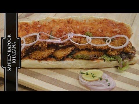 Cornflakes Chicken Sandwich | Sanjeev Kapoor Khazana