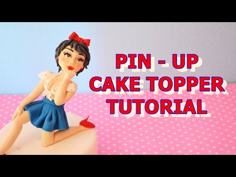 how to make pin-up cake topper fondant - tutorial corpo e viso in pasta di zucchero torta