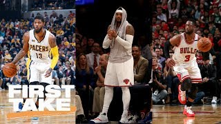 Cavaliers Could Get Paul George, Carmelo Anthony And Dwyane Wade   First Take   June 26, 2017