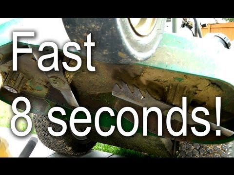 How to Remove Lawn Mower Blade in 8 seconds