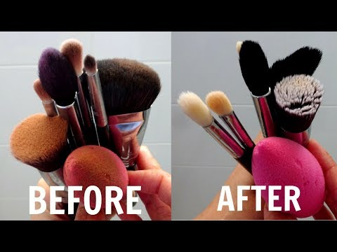 How To Clean Makeup Brushes & Beauty Blenders | Easy DIYs ~ Immy
