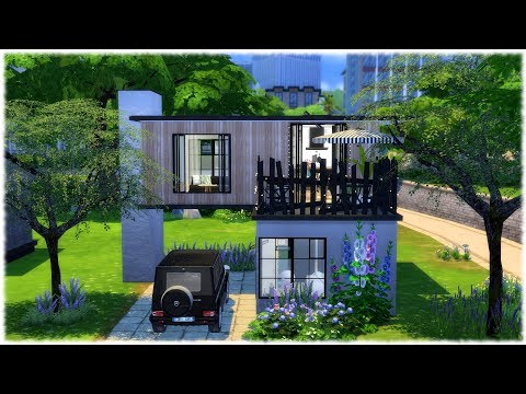 The Sims 4: Speed Build // SINGLE'S HOUSE // CC Speed Build