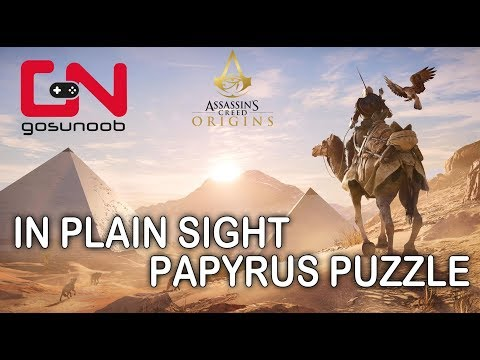Assassin's Creed Origins In Plain Sight Papyrus Puzzle
