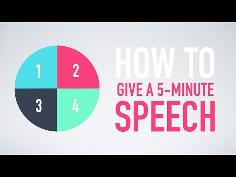 How to give a 5-minute speech in English