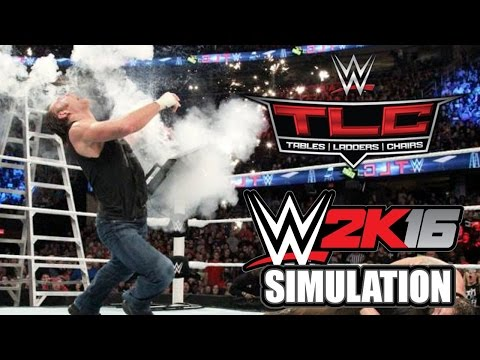 WWE 2K16 (Live on Twitch.TV): Tables, Ladders, and Chairs 2015 Simulation