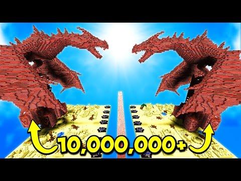 10,000,000 EXPLODING TNT vs TNT DRAGON! (Minecraft)