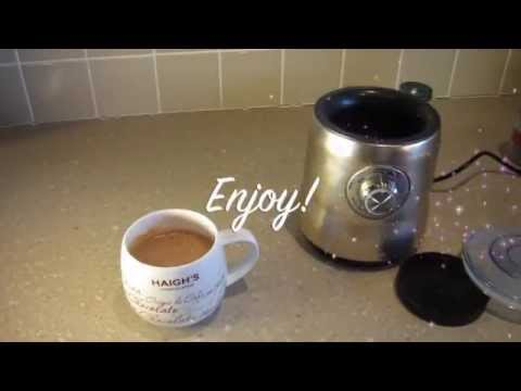 Make Hot Chocolate Using Breville Milk Café Milk Frother