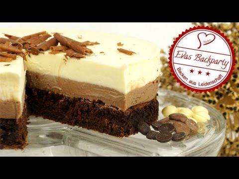 Schokoladentorte / Triple Chocolate Mousse Cake / Schokoladen Woche / Backen mit Evas Backparty