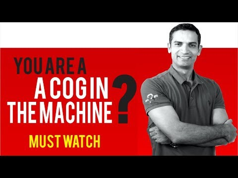 People Study to become a Cog in the Machine English idiom proved by M. Akmal | The Skill Sets