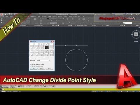Autocad Tutorial Change Divide Point Style