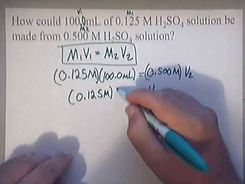 Dilution Equation | Molarity | Concentration | Practice Problem #1 | Solution Chemistry