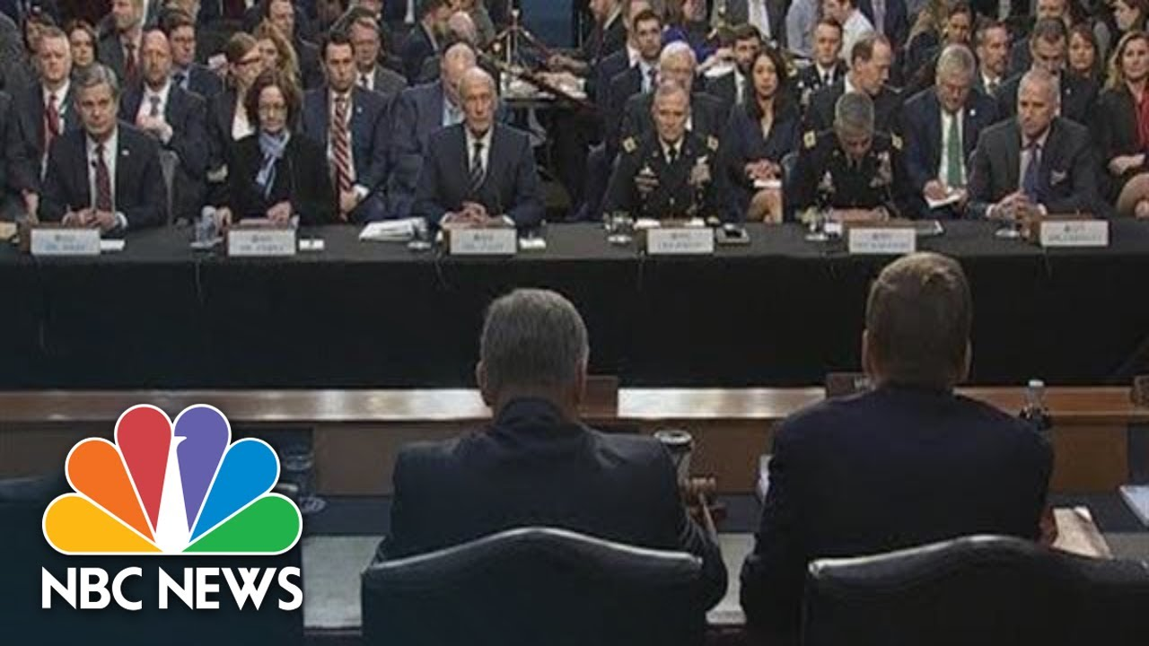 Watch Live: FBI, CIA Directors Testify On 'Worldwide Threats'   NBC News