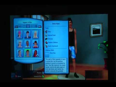 The Sims 3 XBOX 360 Part 1 - Creating a New Family