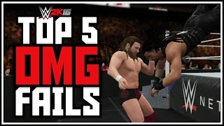 WWE 2K16 - TOP 5 OMG FAILS! OMG Moments Gone Wrong Countdown! (PS4 & XBOX ONE)