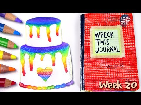 WRECK THIS JOURNAL 20 : Rainbow Layer Cake Drawing | SoCraftastic