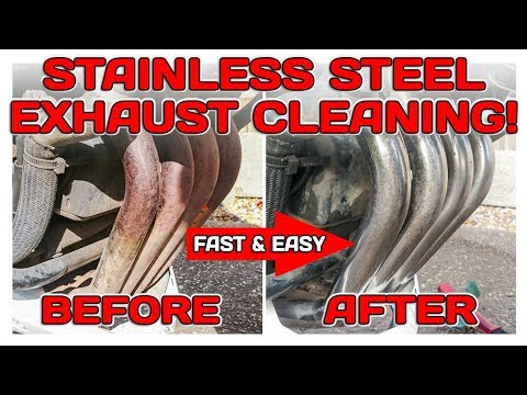 Cleaning Stainless Steel Exhaust! FAST - EASY- CHEAP!