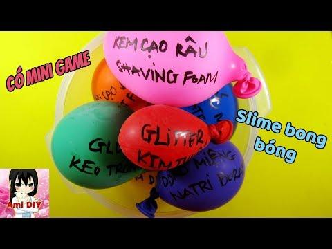Mini game/ Ami DIY/ Làm slime với bong bóng/ Making Slime With Balloons!