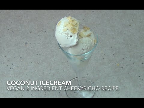 Coconut Ice Cream Vegan 2 Ingredient cheekyricho video recipe