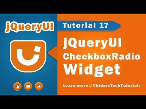 jquery ui video tutorial 17 - Creating Checkboxradio Widget
