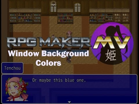 [RPG Maker MV] Window Background Colors