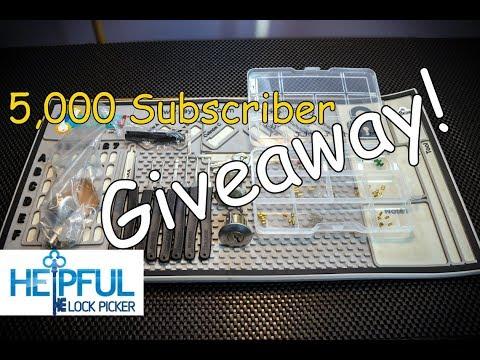 [157] HelpfulLockPicker 5,000 Subscriber Giveaway!