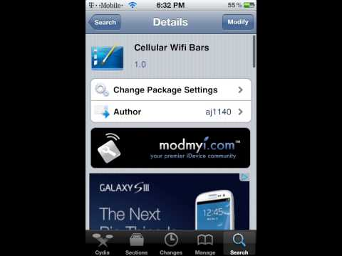 How to get cellular wifi bars on Ipod tpuch 4g