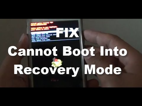 Samsung Galaxy S5: Fix Cannot Boot Into Recovery Mode (Android)