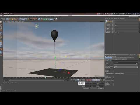 Floating Balloons using Spring & Spline in Cinema 4D Tutorial