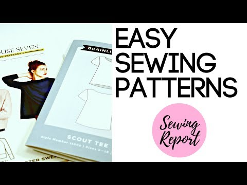 FAVORITE EASY SEWING PATTERNS FOR BEGINNERS | LIVE SHOW | SEWING REPORT