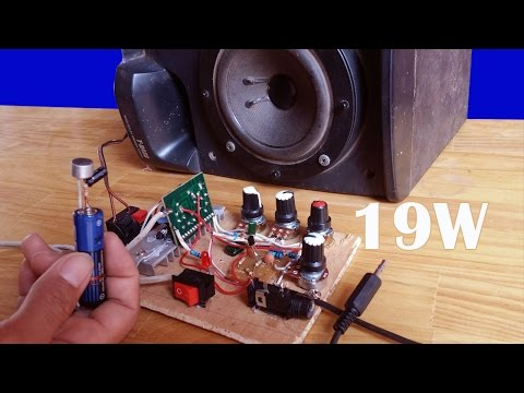 How to make simple Amplifier using IC LA 4440 19W equalizer  Circuit and Electret Microphone