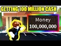 GETTING *100 MILLION* CASH as BACON HAIR in ROBLOX JAILBREAK!!!