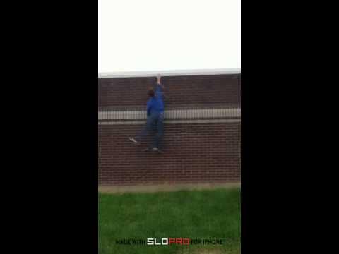 Corey Does A 10 Foot Wall Climb!?
