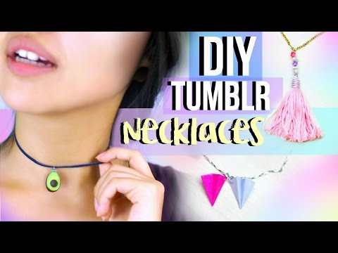 DIY Tumblr Necklaces | JENerationDIY