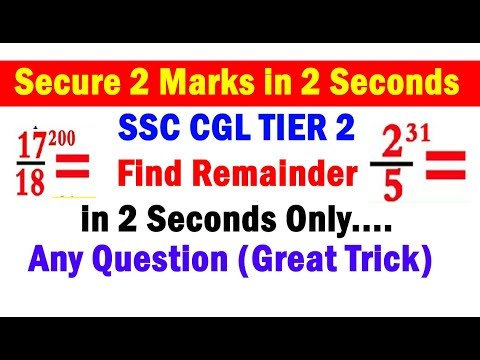 #Revised, Find Remainder in 2 Seconds Only #Great Trick