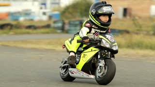 Two year old motorcycle racer!   People are Awesome