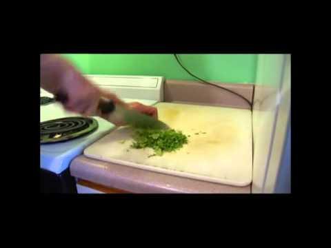 Jamaican Jerk Chicken: Chop Cilantro