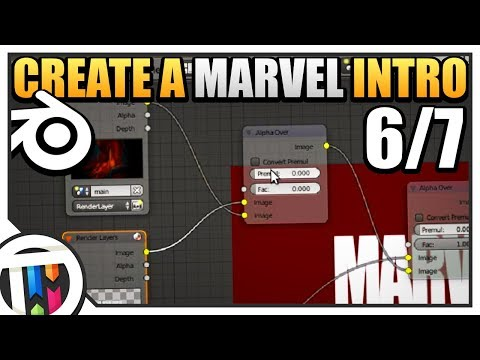 Blender Tutorial - How to make a Marvel Intro - Combining Scenes (6/7)