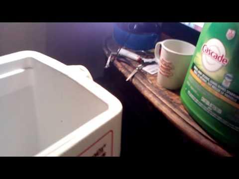 How clean a Coleman cooler