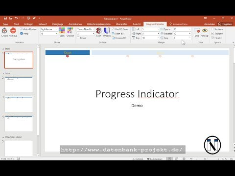 Free PowerPoint Progress Indicator v1.827 demonstration