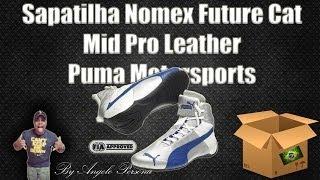 Unboxing Sapatilha Nomex Future Cat Mid Pro Leather Puma Motorsports  (Antichamas) a6664ce1ea9
