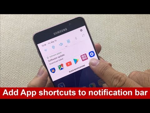 How to add App shortcuts to notification bar in android