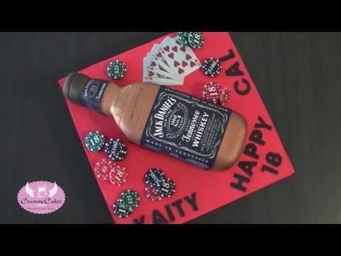 Jack Daniels Bottle Cake by CrummiCakes