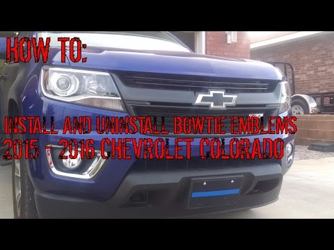 How-To: Install And Uninstall Bowtie Emblems On 2015 - 2017 Chevrolet Colorado