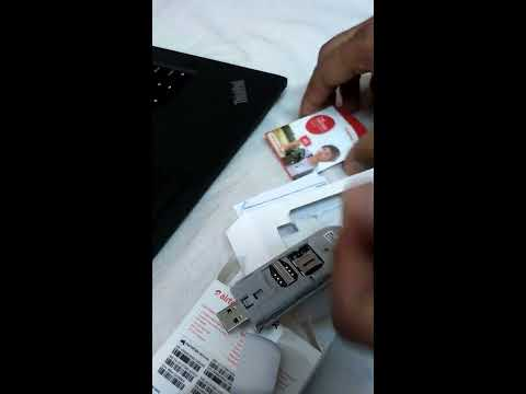 Unboxing New airtel 4g dongle and inserting memory card and sim card to it