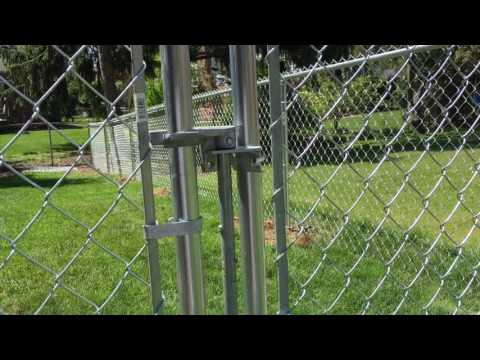 How to use/adjust a chain link gate latch