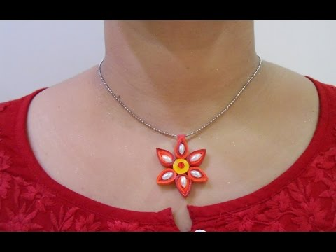 DIY: How to make Quilling Pendant Necklace