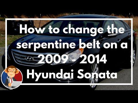 How to change a serpentine belt on 2009 - 2014 Hyundai Sonata 2.4L - EGM DIY