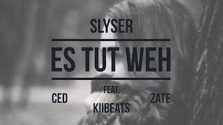 Slyser - Es Tut Weh (feat. Zate, Ced & Kiibeats) (prod. By Jack Center) - Lyrikvideo
