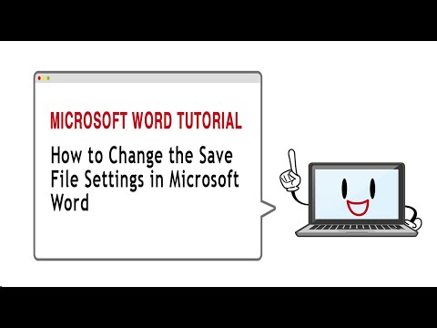 How To Change the Save File Setting in Microsoft Word 2010